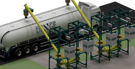 Big bag boşaltma silobas dolum sistemi, bigbag boşaltma sistemi, silobas yükleme körüğü, helezon, vidalı konveyör