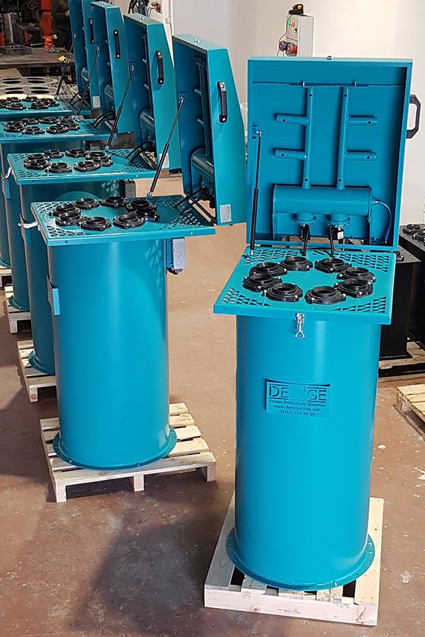Toz, toplama, jet pulse, filtre, torbası, sistemleri, kaset, çimento, Kalsit, Kül, Kireç